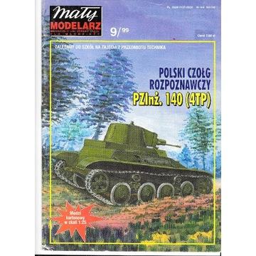 Mały Modelarz 9 1999 Polski czołg PZInż. 140 (4TP)