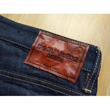 Dsquared2 oryginalne spodnie jeansowe nowe 48