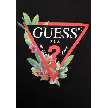 Koszulka T-shirt damski GUESS basic black S