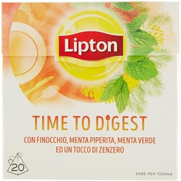lipton time to digest nowa imbir mięta herbata
