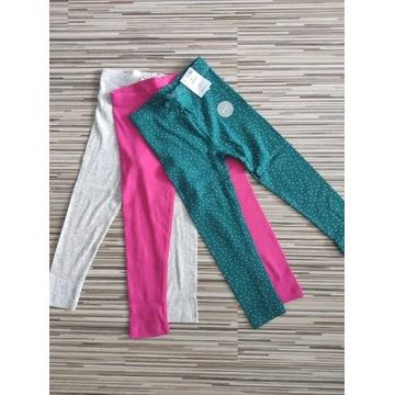 Spodnie legginsy 3pack George 104/110