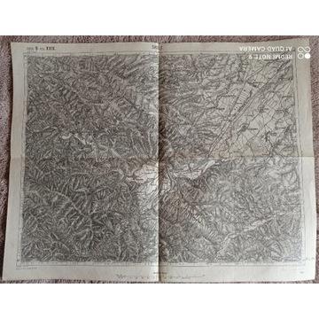 Mapa z 1914 r : Skole, Korczyn, Podhorce(1: 75000)