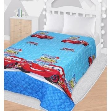 Narzuta na łóżko Cars Disney pikowana 142x205cm
