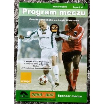 Program Groclin Dyskobolia Legia Warszawa 2006 r.