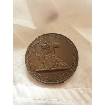 Medal Polski 1874 dla Rusinów pomordowanych ,cara.