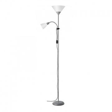 BRILLIANT SPARI 4 podwójna lampa podłogowa srebrna