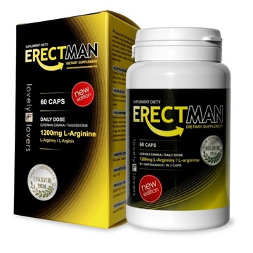 SUPLEMENT DIETY ERECTMAN 60 KAPS 1200 mg L-ARGININ