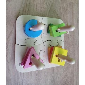 Hape Drewniany sorter puzzle Montessori SI