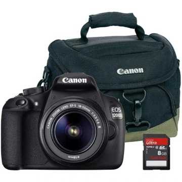 Canon EOS 1200D + 18-55 mm DC III + torba + karta