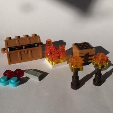 Lego Minecraft skrzynia lawa stół stół sztabka.Bdb