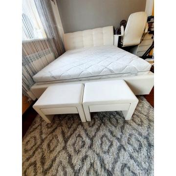 Łóżko Ekoskóra białe Fabrizio Prestige 160x200