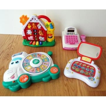 Cztery zabawki edukacyjne
