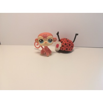 Figurka lps Little pet shop małpa z brokatem