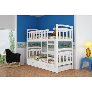 Piętrowe dwuosobowe łóżka dziecięce, dwa materwce