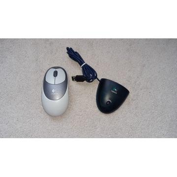 Mysz bezprzewodowa Logitech IR złącze USB kulkowa