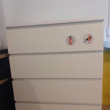 Biała komoda MALM 4 szuflady, w dobrym stanie.