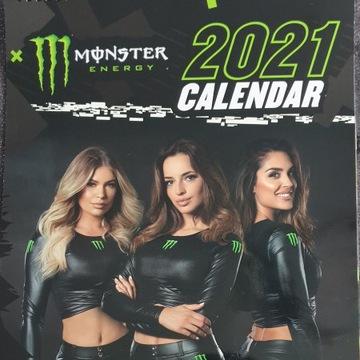 Kalendarz 2021 Monster Energy  format A3 + GRATIS
