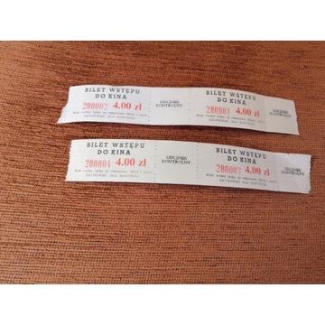 Kolekcje PRL-u - stare bilety do kina - komplet