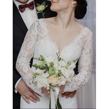 Koronkowa suknia ślubna, piękna!