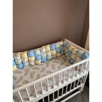 Białe łóżeczko dziecięce + kołyska 3w1 120 60