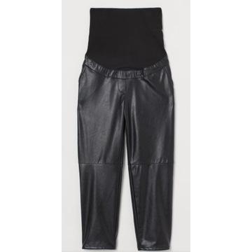 Spodnie skórzane ciążowe H&M