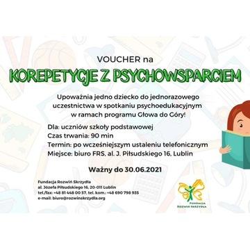 Voucher-korepetycje ze wsparciem psychoedukacyjnym