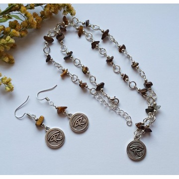 Zestaw Oko Horusa tygrysie amulet talizman witch