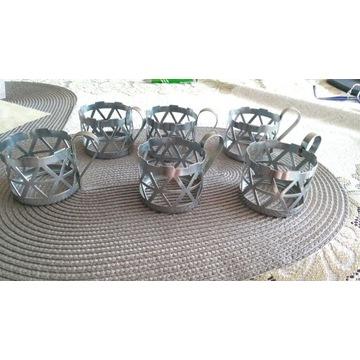 Metalowe koszyki do szklanek PRL