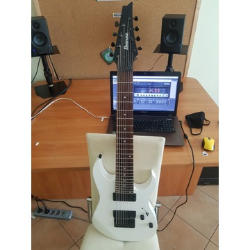gitara Ibanez RG8 WH + Lundgren M8c + coil split