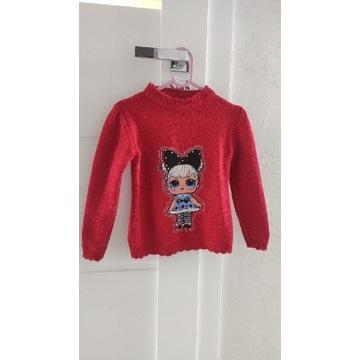 Czerwony sweterek LOL Surprise