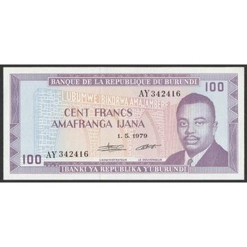 Burundi 100 franków 1979 - stan bankowy UNC