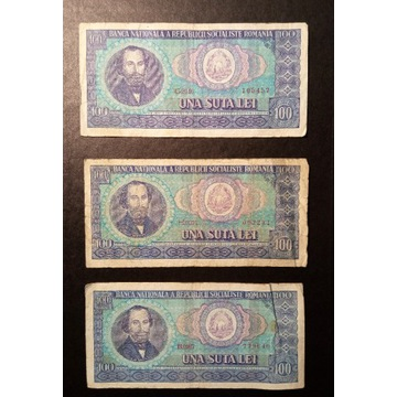 Banknot Rumunia 100 Lei UNA SUTA LEI 1966 rok