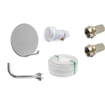 Antena sat., konwerter, kabel, złącza, mocowanie