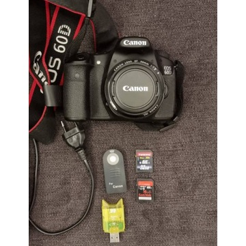 Canon 60D Body + obiektyw canon 50mm 1,8
