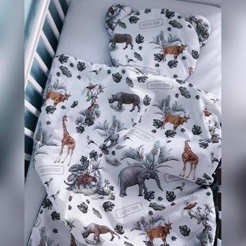 Pościel dla niemowlaka do łóżeczko -safari.