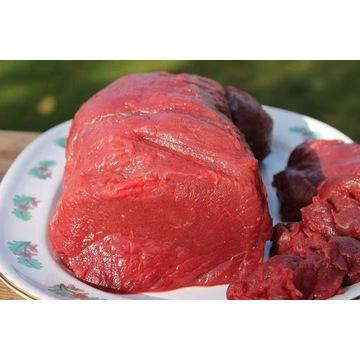 Mięso z jelenia z własnego rozbioru.