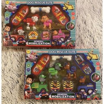Zabawki psi patrol dwa pudełka w cenie jednej
