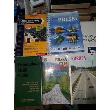 Atlasy i mapy Polska i Warszawa - przed 2006r wyd.