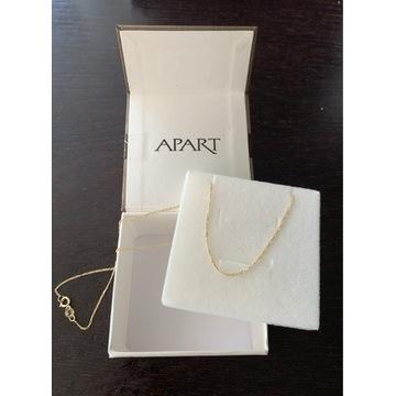 Złoty łańcuszek 40cm firmy APART