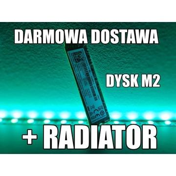 DARMOWA DOSTAWA +RADIATOR Dysk SSD M.2 NVME 256gb