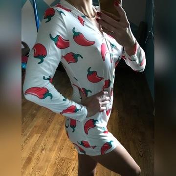 piżama damska krótki pajacyk
