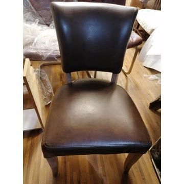 Krzesła skórzane 2 sztuki