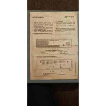 UNITRA DIORA SUDETY R-208 instrukcja schemat