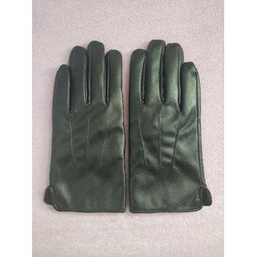 Rękawiczki skóra ekologiczna czarne touch screen