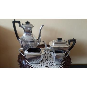 Garnitur do Kawy i Herbaty / Srebrzony / Sygnowany