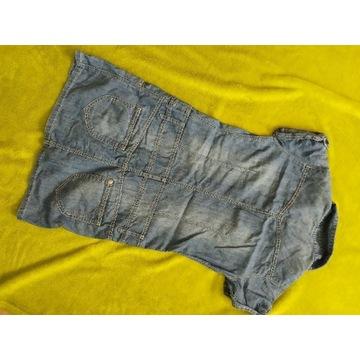 Sukienka szmizjerka jeansowa 146