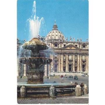 Włoska pocztówka Watykan Bazylika św. Piotra