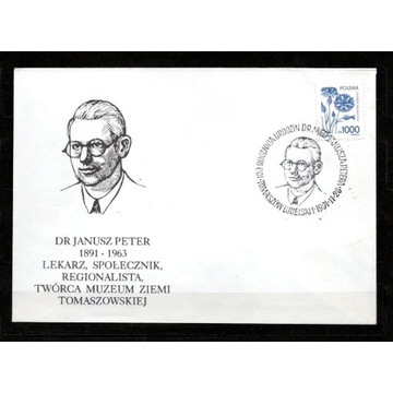 KOPERTA,100.R.UR.DR.JANUSZA PETERA,TOMASZÓW LUB.
