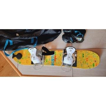 Zestaw snowboardowy dziecięcy Burton deska 100 cm