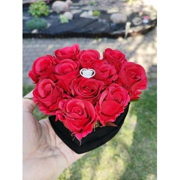 Flower Box  Mini Serce Welur